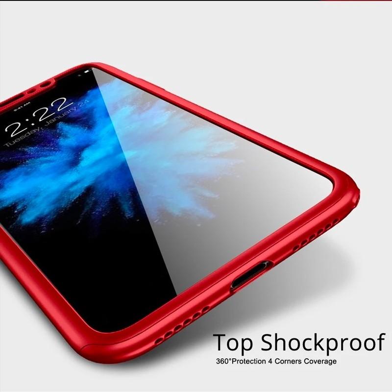 Mobiq 360 Graden Hoesje iPhone 12 / 12 Pro Rood - 2