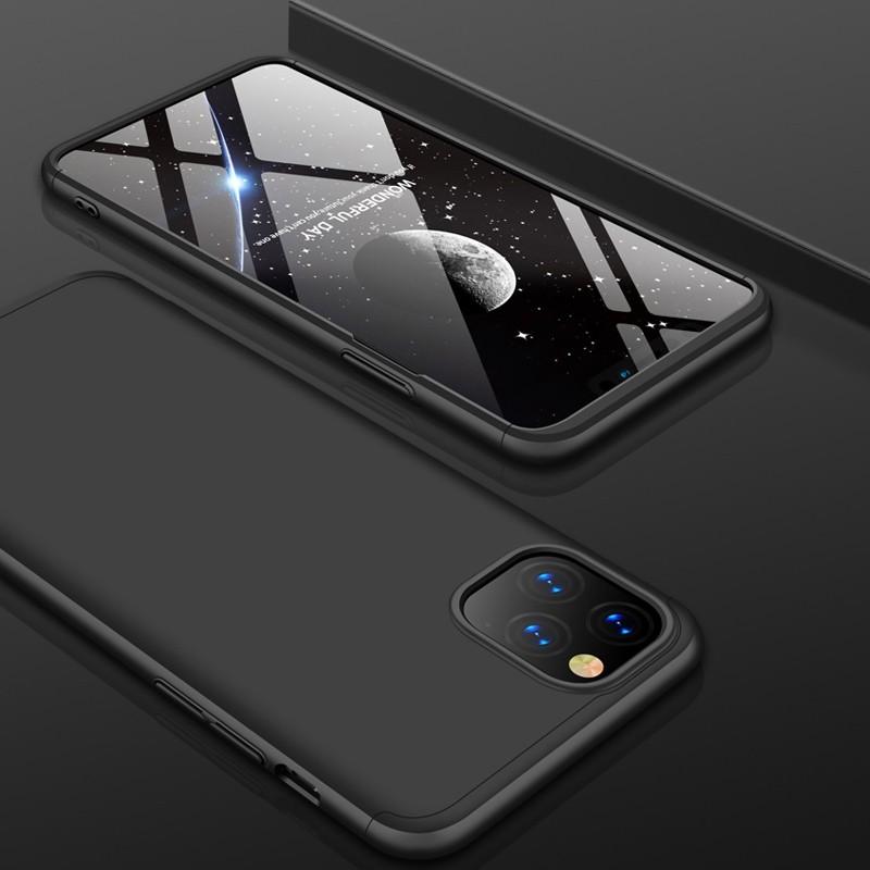 Mobiq 360 graden Hoesje iPhone 11 Pro Zwart - 1