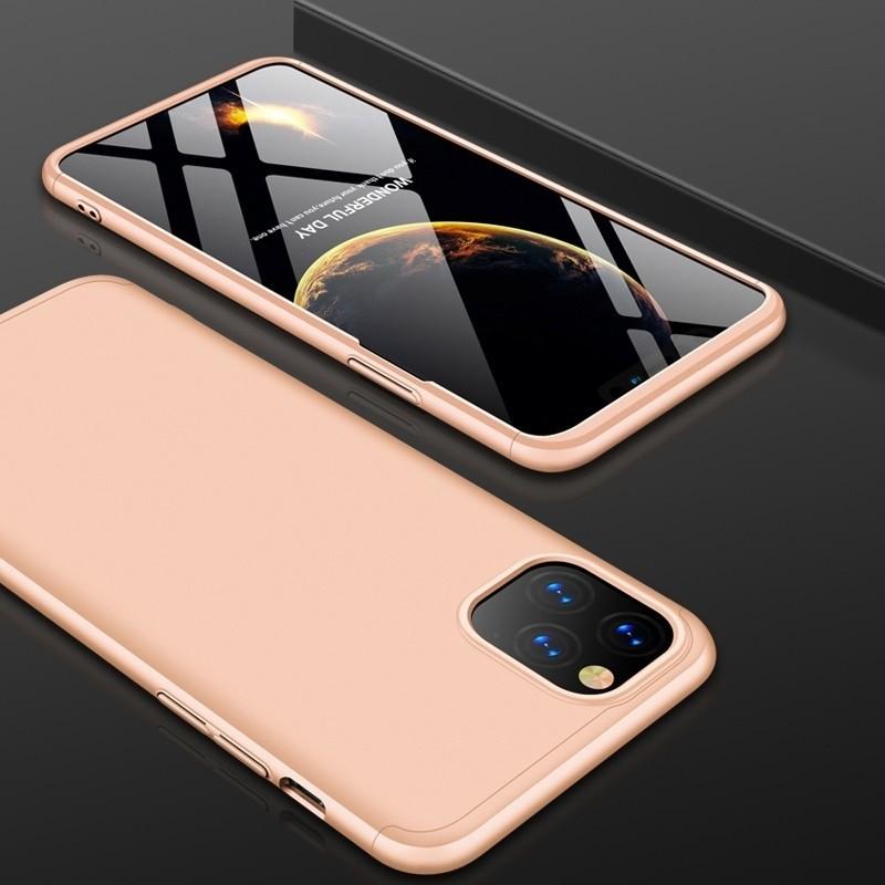 Mobiq 360 Graden Hoesje iPhone 12 / 12 Pro Goud - 1