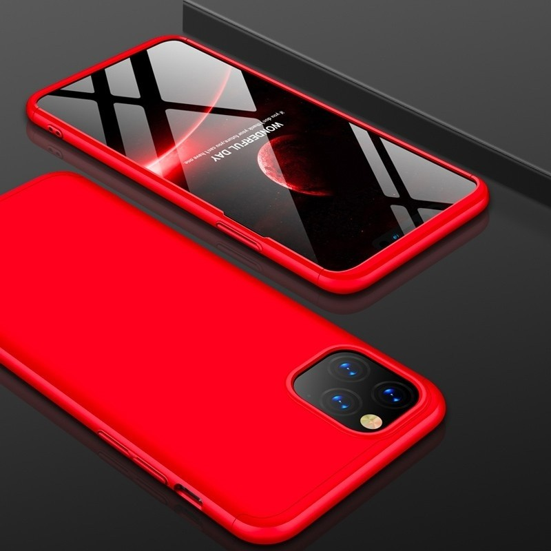 Mobiq 360 Graden Hoesje iPhone 12 Mini Rood - 1