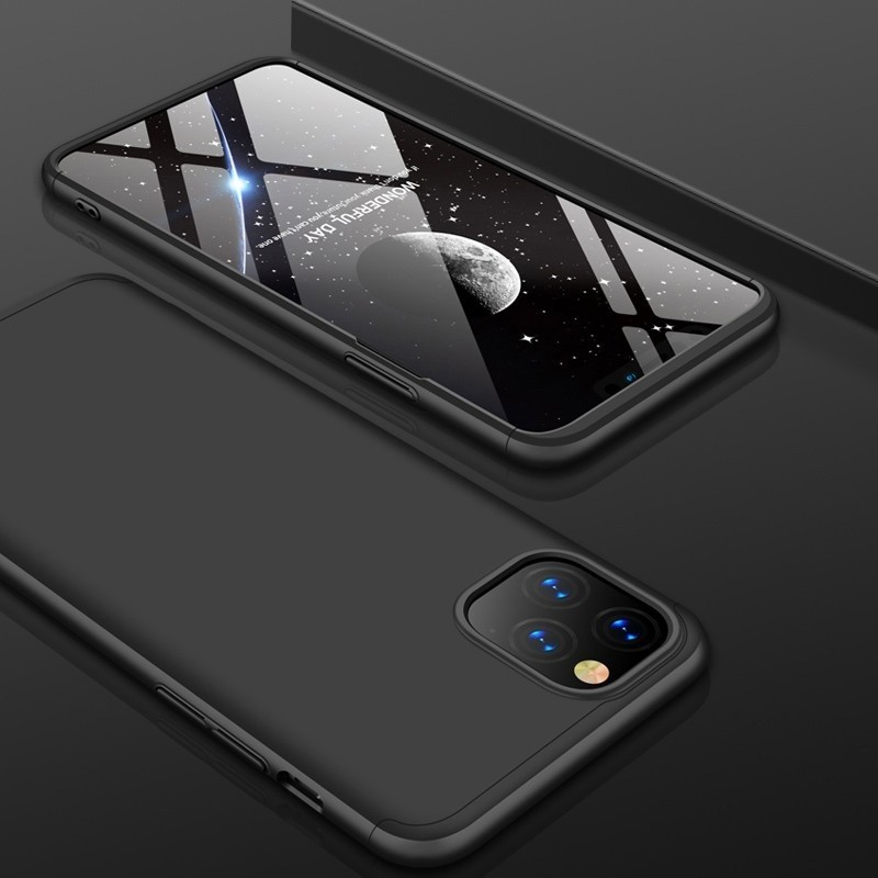 Mobiq 360 Graden Hoesje iPhone 12 Mini Zwart - 1