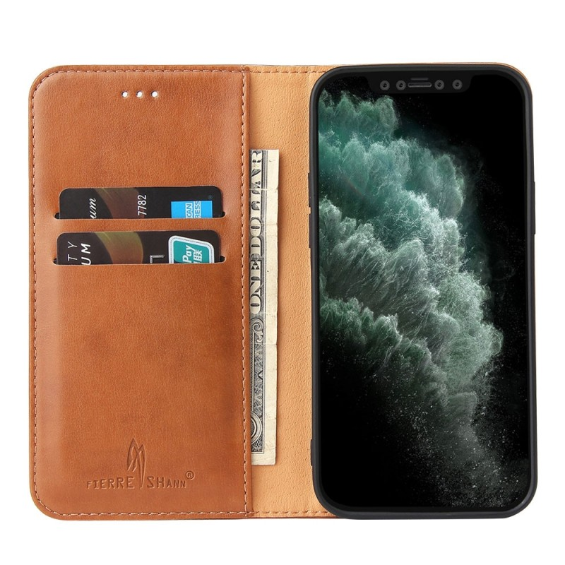 Mobiq Premium Business Wallet iPhone 12 Mini Bruin - 1