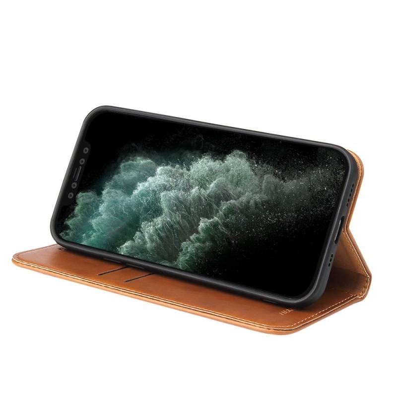Mobiq Premium Lederen Portemonnee Hoesje iPhone 13 Mini Bruin - 2