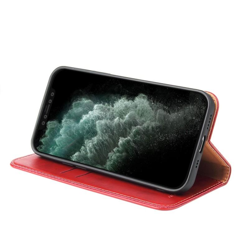 Mobiq Premium Lederen Portemonnee Hoesje iPhone 13 Mini Rood - 1