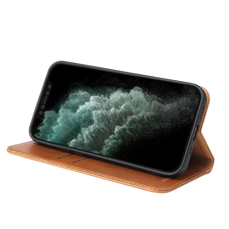 Mobiq Premium Lederen Portemonnee Hoesje iPhone 13 Bruin - 2