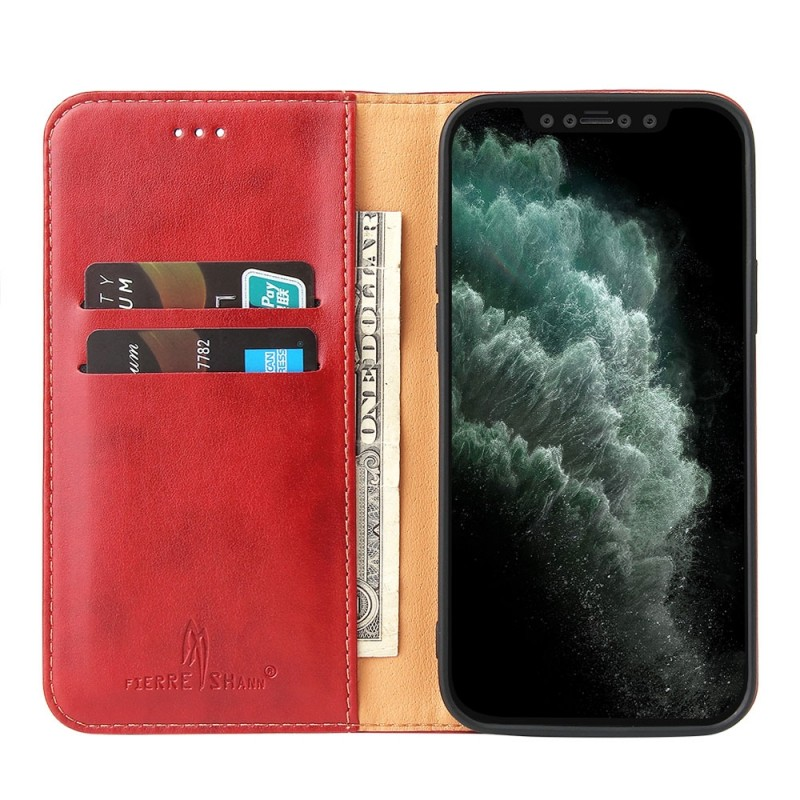Mobiq Premium Lederen Portemonnee Hoesje iPhone 13 Pro Max Rood - 1