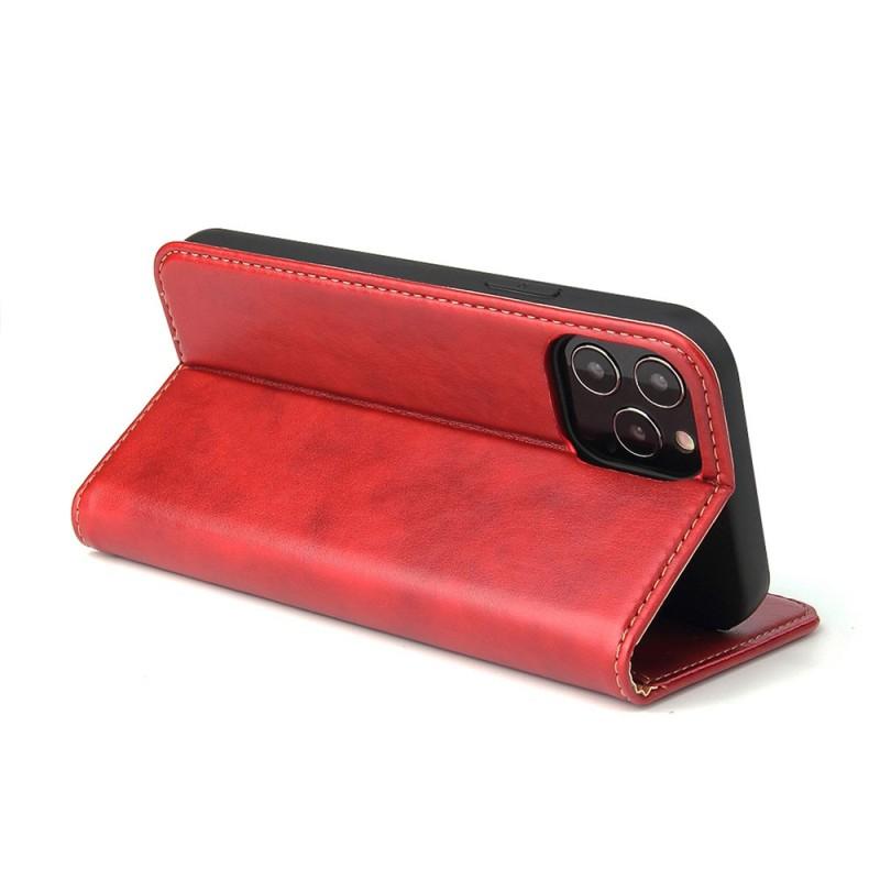 Mobiq Premium Lederen Portemonnee Hoesje iPhone 13 Pro Max Rood - 6