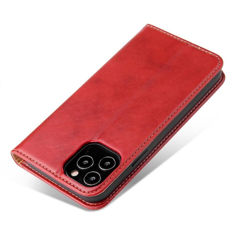 Mobiq Premium Lederen Portemonnee Hoesje iPhone 13 Pro Max Rood - 5