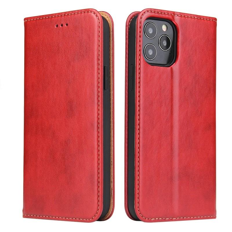 Mobiq Premium Lederen Portemonnee Hoesje iPhone 13 Pro Rood - 6
