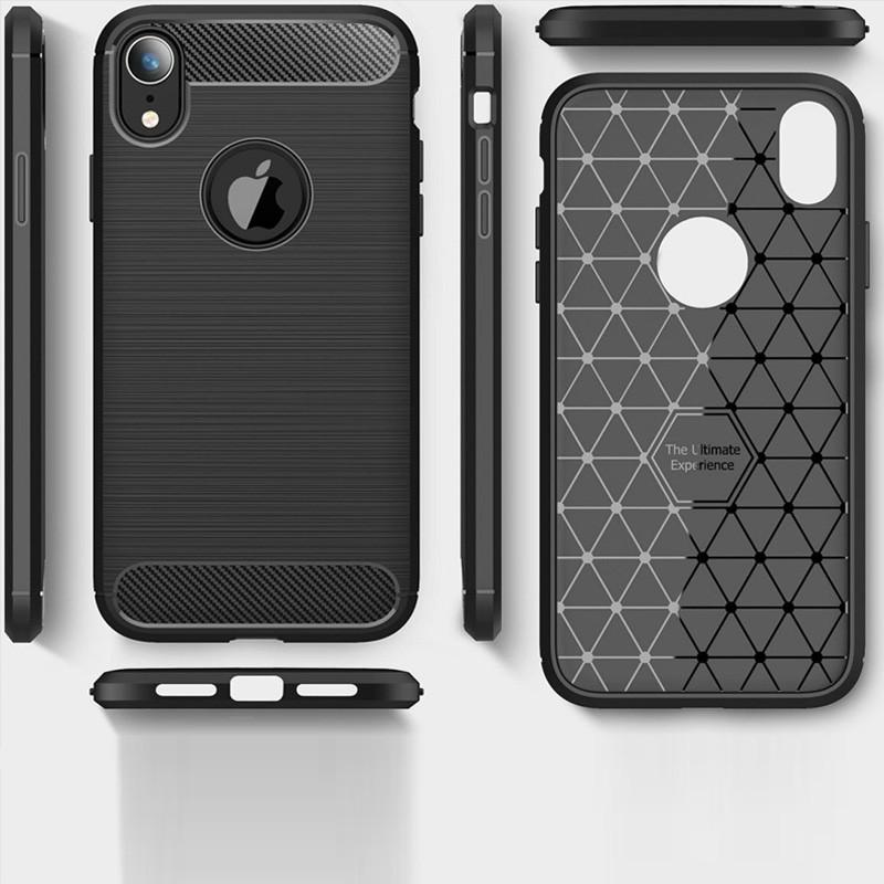 Mobiq Rugged Armor Case iPhone XR Grijs 04
