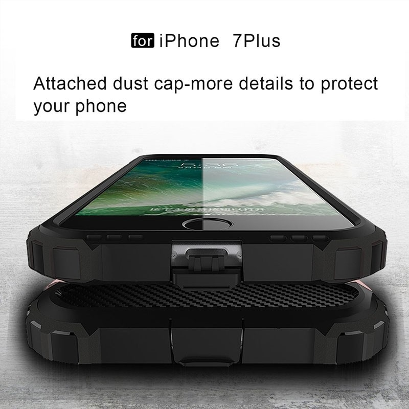 Mobiq - Rugged Armor Phone 8 Plus/7 Plus Hoesje Rose Goud - 2