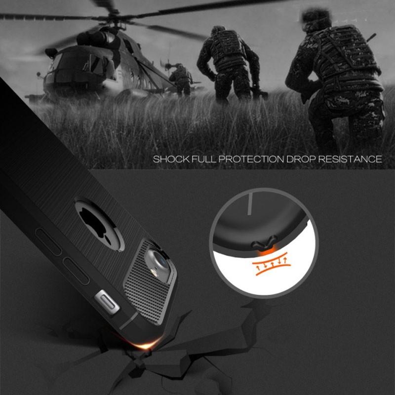 Mobiq - Hybrid Carbon iPhone 8 Plus / 7 Plus Hoesje Zwart - 3