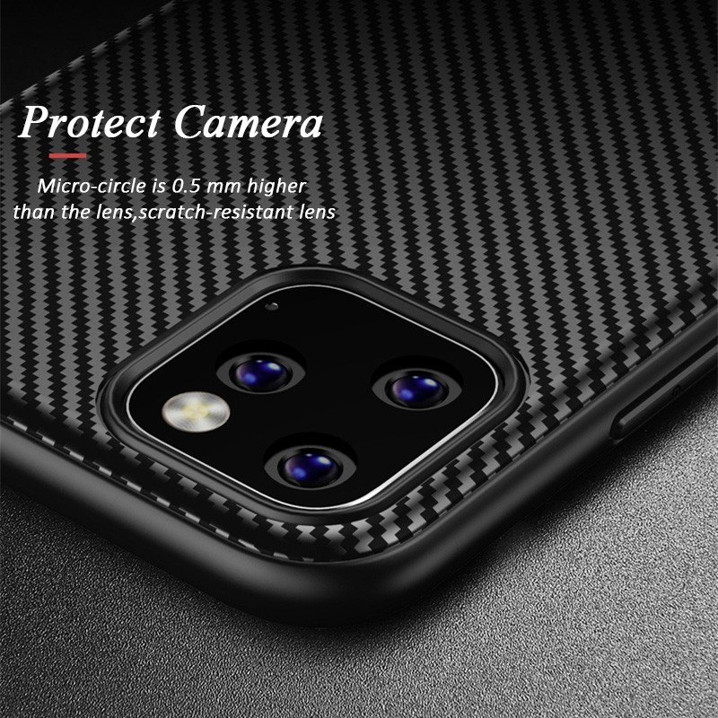 Mobiq - Zakelijk Carbon Hoesje iPhone 11 Zwart - 4