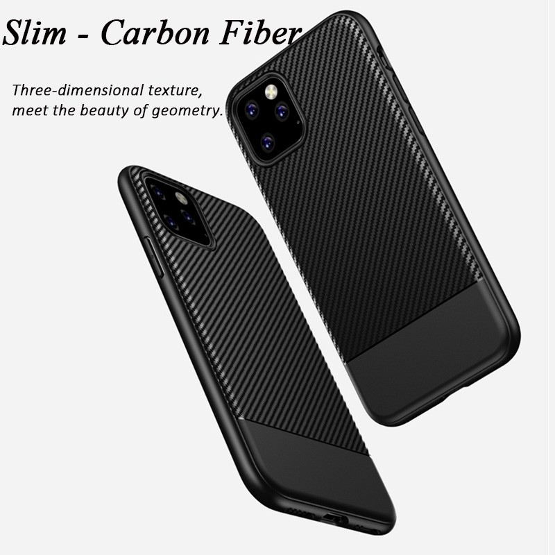 Mobiq - Zakelijk Carbon Hoesje iPhone 11 Zwart - 5