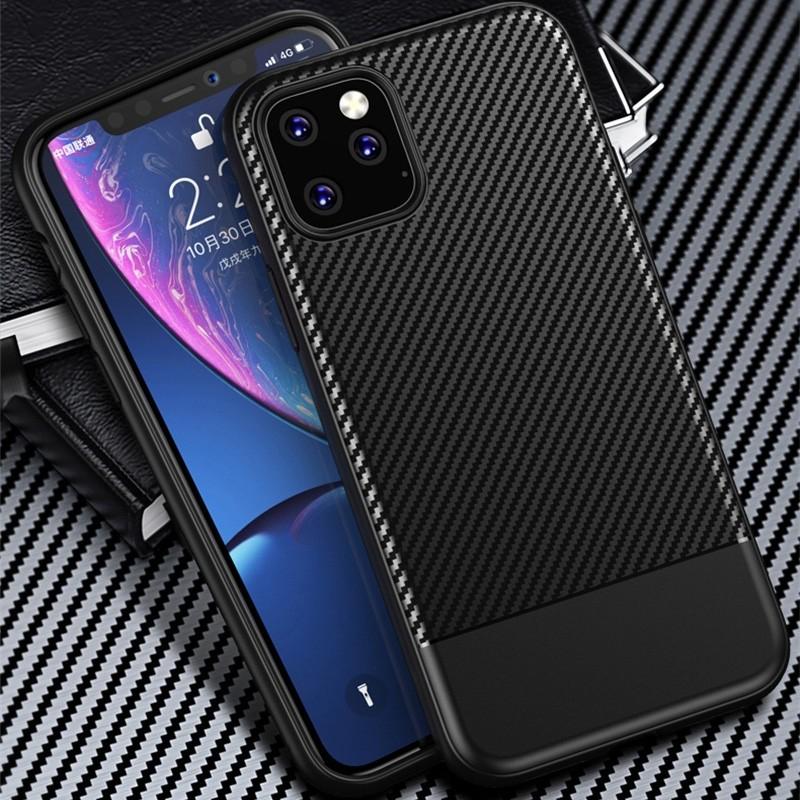 Mobiq - Zakelijk Carbon Hoesje iPhone 11 Blauw - 6