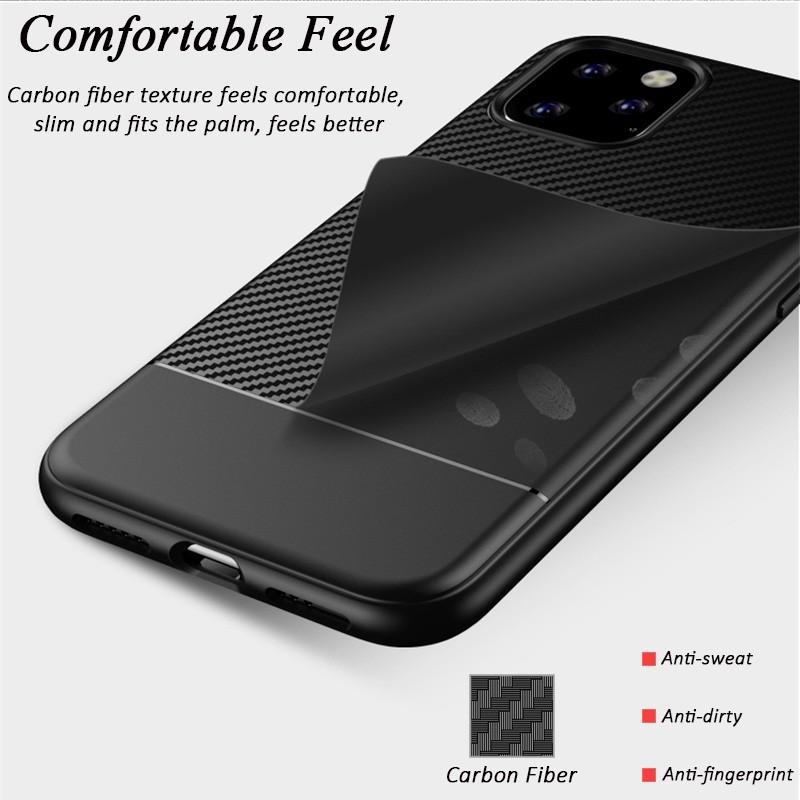 Mobiq - Zakelijk Carbon Hoesje iPhone 11 Pro Blauw - 3