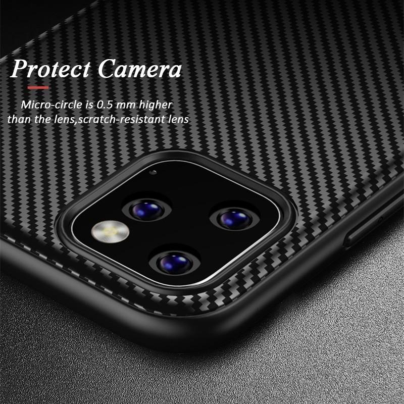 Mobiq - Zakelijk Carbon Hoesje iPhone 11 Pro Max Blauw - 3