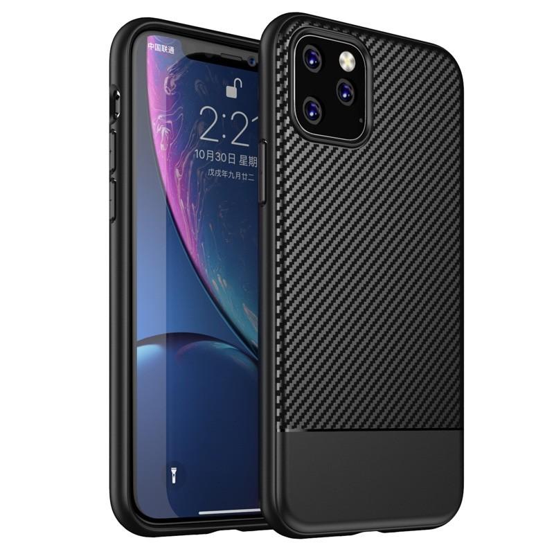 Mobiq - Zakelijk Carbon Hoesje iPhone 11 Zwart - 1