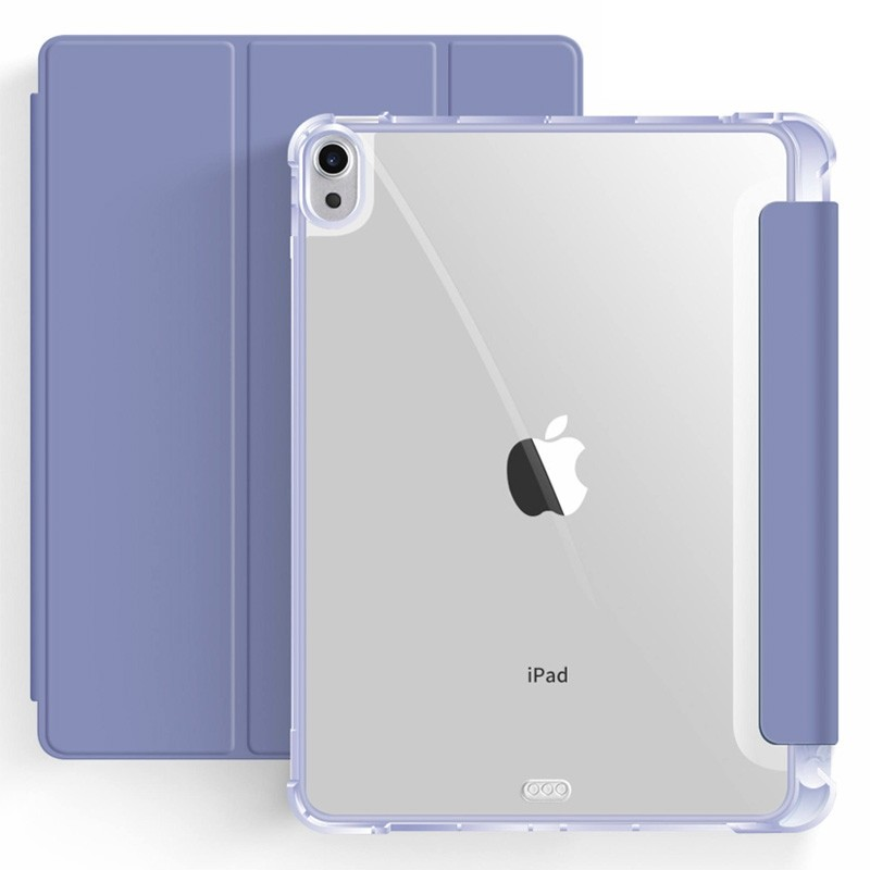 Mobiq Clear Back Folio iPad Air 10.9 (2020) Paars - 1