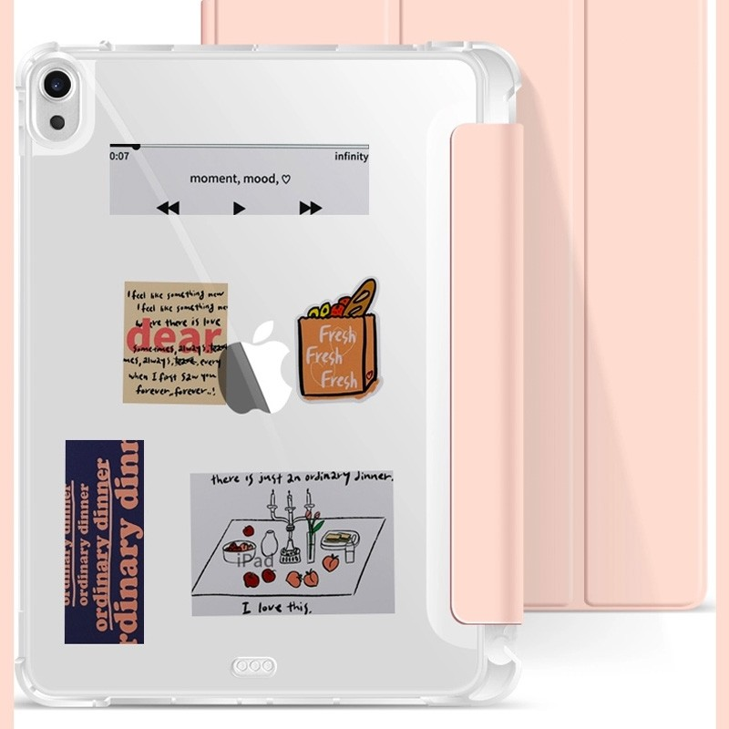 Mobiq Clear Back Folio iPad Air 10.9 (2020) Lichtblauw - 5