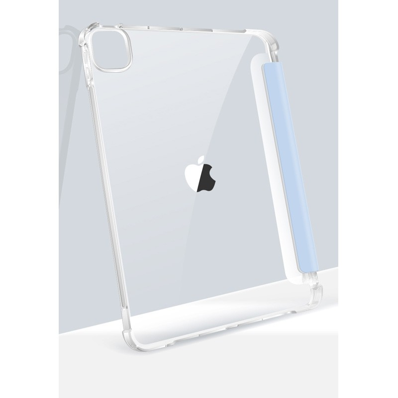 Mobiq - Transparante Trifold iPad Pro 12.9 inch (2021) Hoes Donkergroen - 5