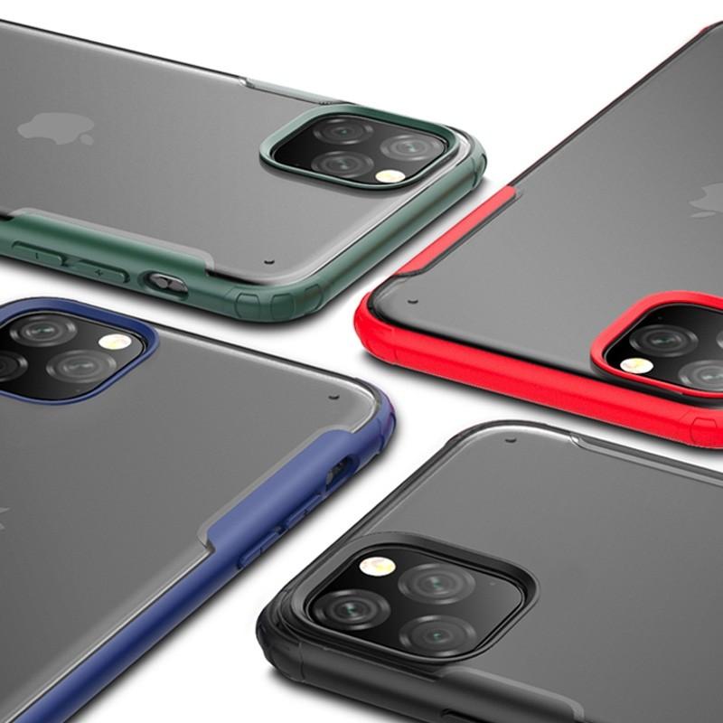 Mobiq Clear Hybrid iPhone 11 Hoesje Zwart - 2