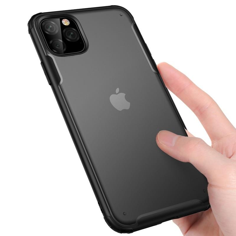 Mobiq Clear Hybrid iPhone 11 Hoesje Zwart - 3