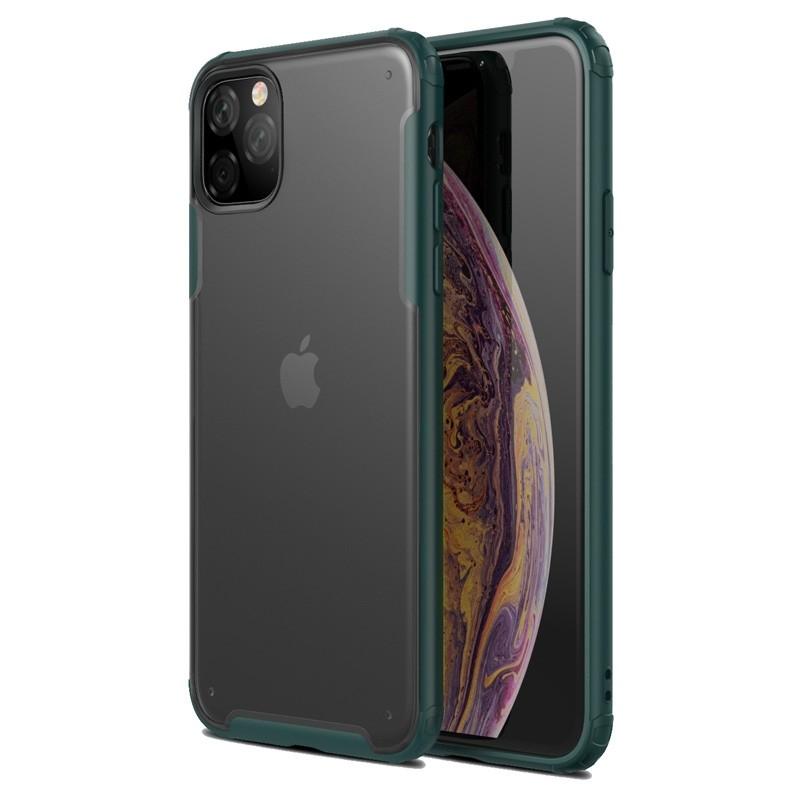 Mobiq Clear Hybrid iPhone 11 Hoesje Groen - 1
