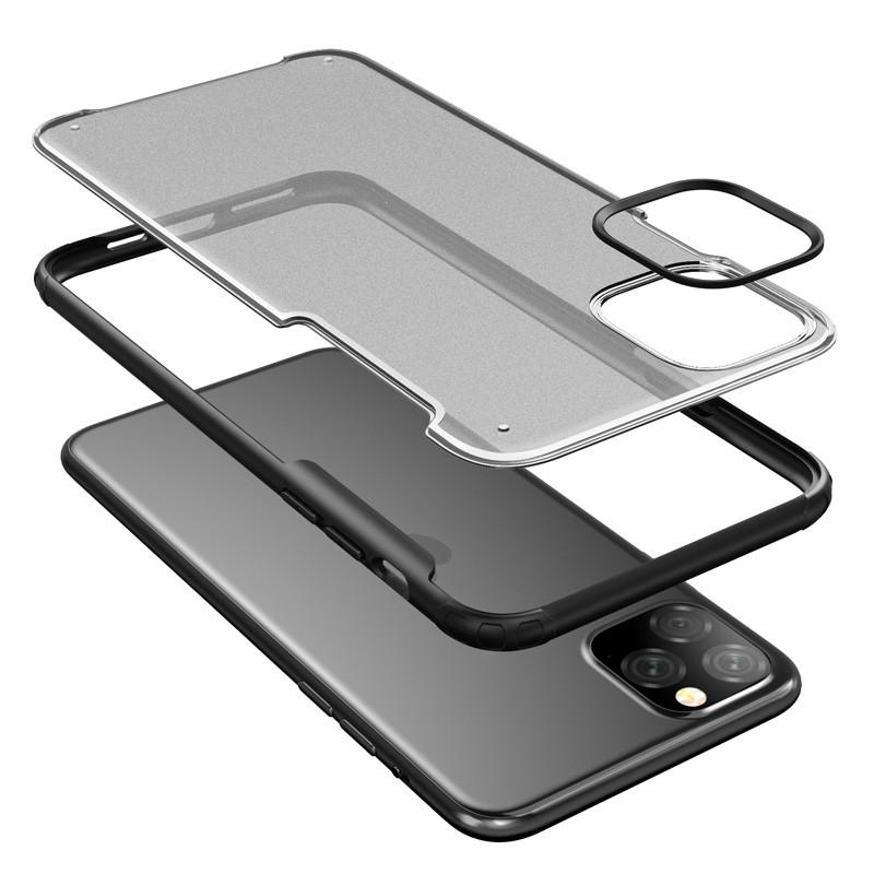 Mobiq Clear Hybrid iPhone 11 Pro Hoesje Zwart - 4