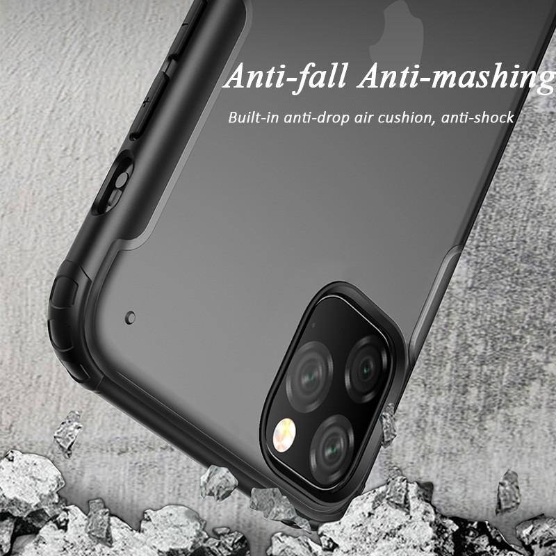 Mobiq Clear Hybrid iPhone 11 Pro Max Hoesje Zwart - 3