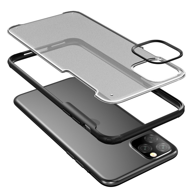 Mobiq Clear Hybrid iPhone 11 Pro Max Hoesje Blauw - 5