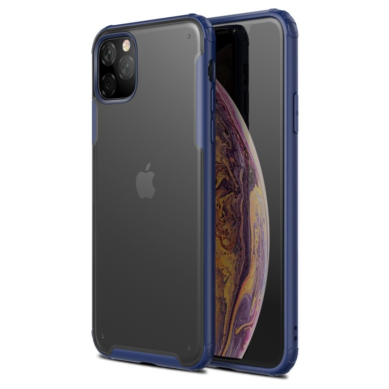 Mobiq Clear Hybrid iPhone 11 Pro Max Hoesje Blauw - 1