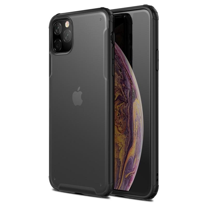 Mobiq Clear Hybrid iPhone 11 Hoesje Zwart - 1