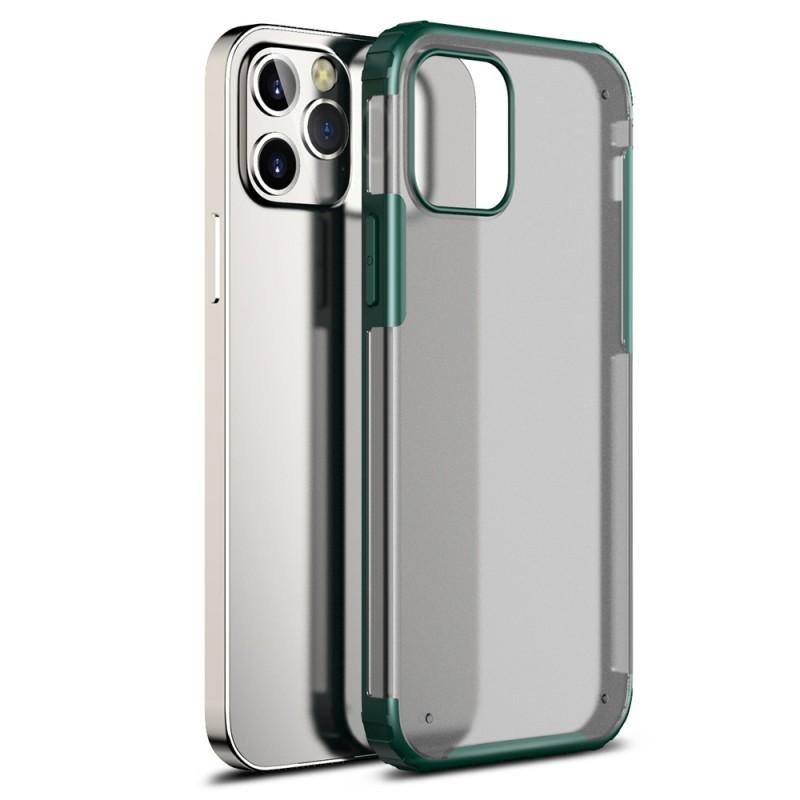 Mobiq Clear Hybrid Case iPhone 12 / 12 Pro 6.1 Groen - 1
