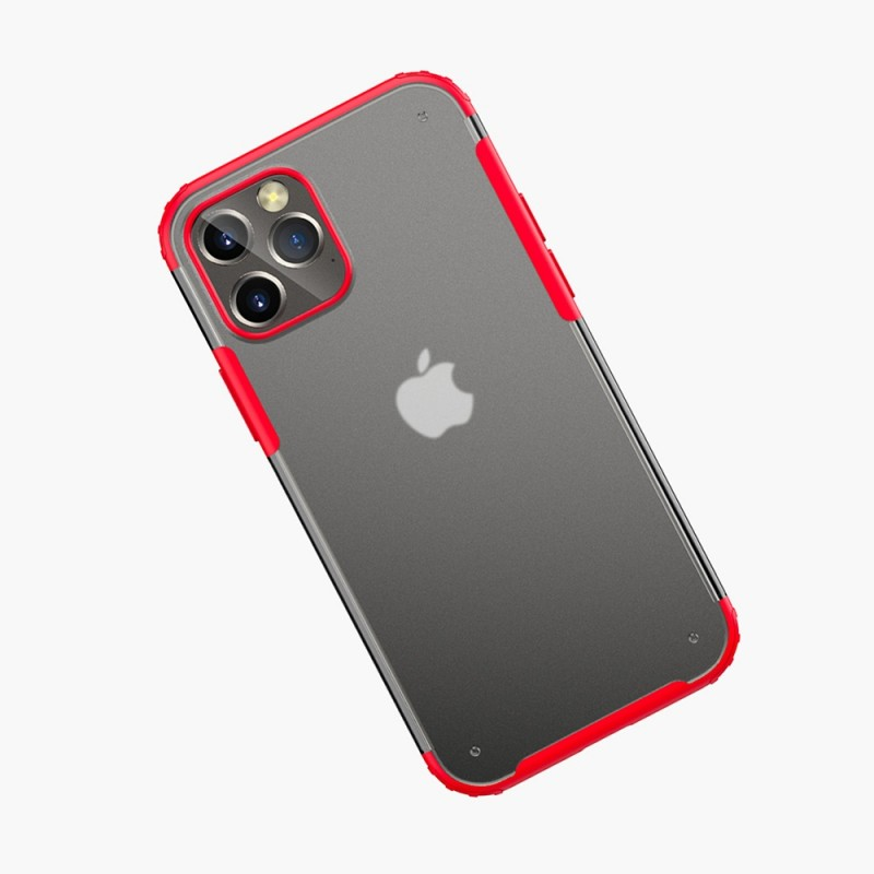Mobiq Clear Hybrid Case iPhone 12 / 12 Pro 6.1 Rood - 2