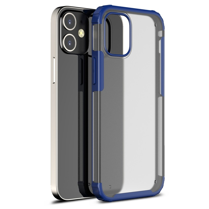Mobiq Clear Hybrid Case iPhone 12 Mini 5.4 Blauw - 1
