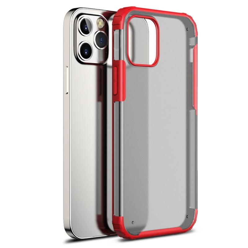 Mobiq Clear Hybrid Case iPhone 12 Mini 5.4 Rood - 1