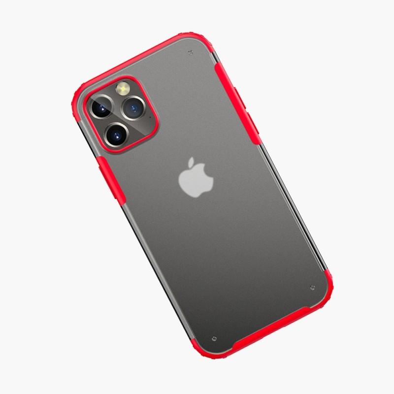 Mobiq Clear Hybrid Case iPhone 12 Mini 5.4 Rood - 2