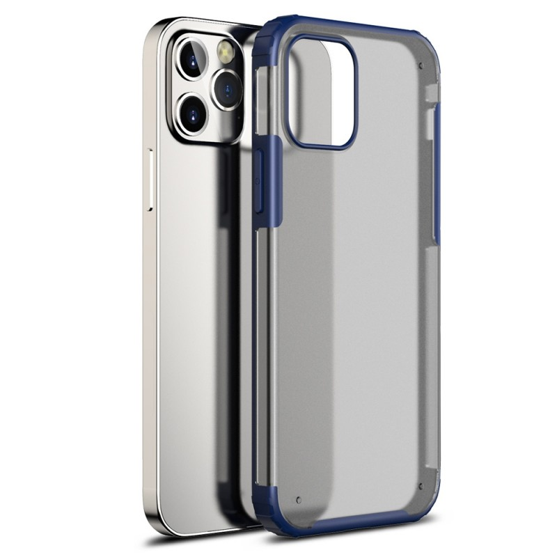 Mobiq Clear Hybrid Case iPhone 12 Pro Max Blauw - 1