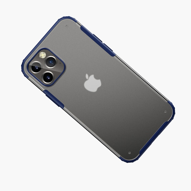 Mobiq Clear Hybrid Case iPhone 12 Pro Max Blauw - 2