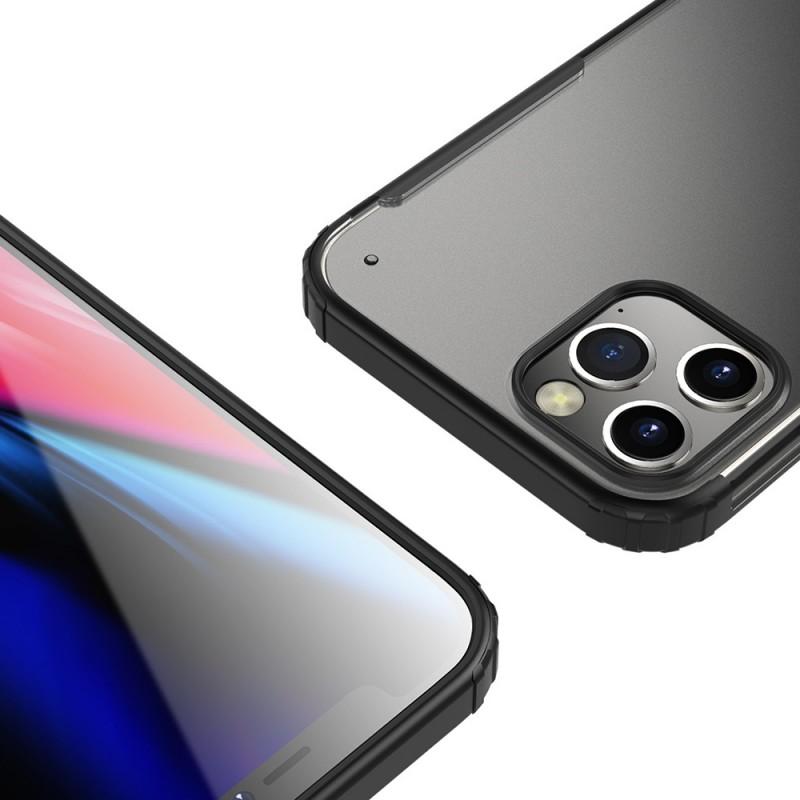 Mobiq Clear Hybrid Case iPhone 12 Pro Max Zwart - 4