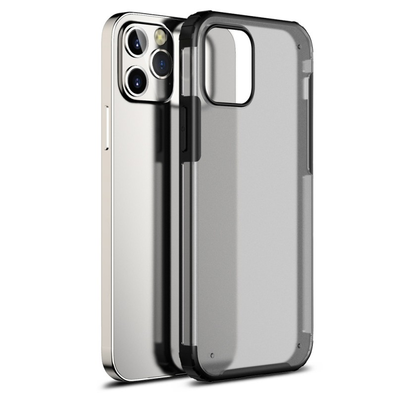 Mobiq Clear Hybrid Case iPhone 12 Pro Max Zwart - 1