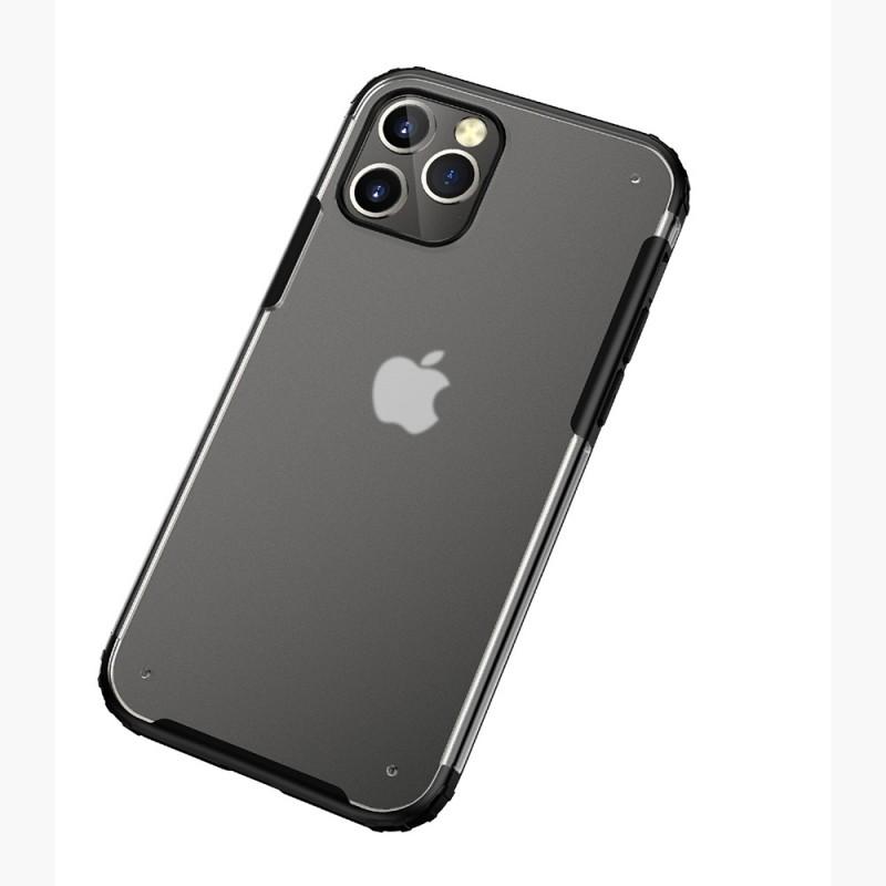 Mobiq Clear Hybrid Case iPhone 12 Pro Max Zwart - 2