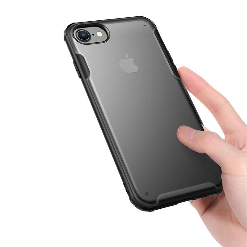 Mobiq Clear Hybrid Case iPhone 8/7 Zwart - 2