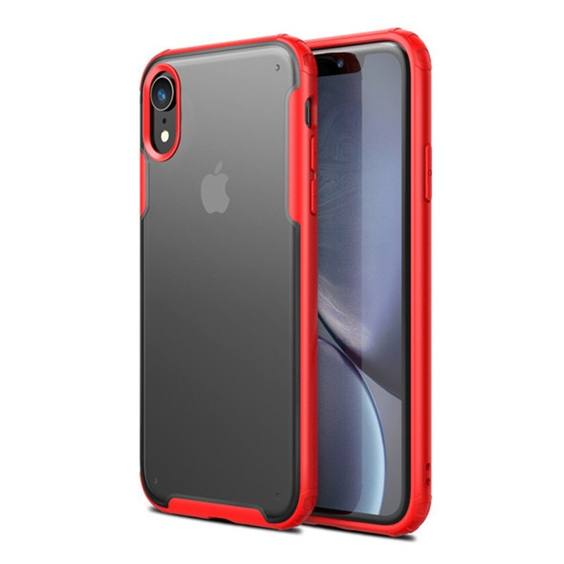 Mobiq - Clear Hybrid Case iPhone XR Rood - 1