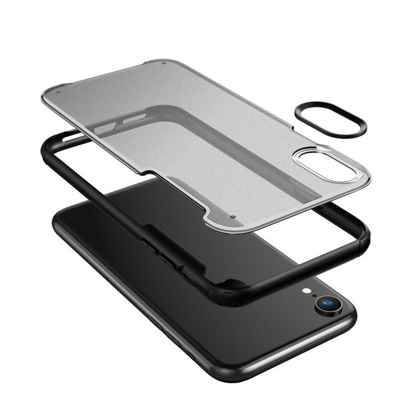 Mobiq - Clear Hybrid Case iPhone XR Groen - 3