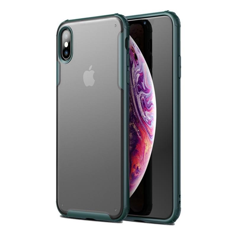 Mobiq - Clear Hybrid Case iPhone X/XS Groen - 1