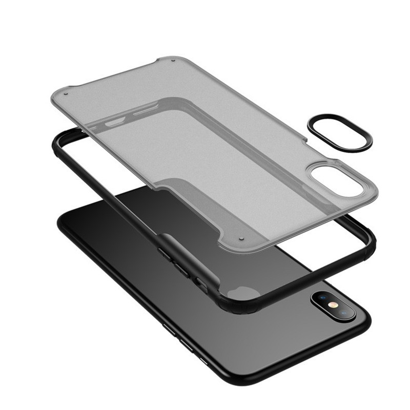 Mobiq - Clear Hybrid Case iPhone X/XS Zwart - 2