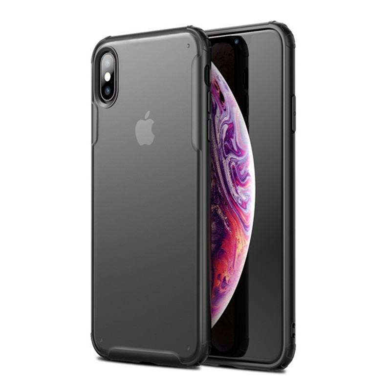Mobiq - Clear Hybrid Case iPhone X/XS Zwart - 1