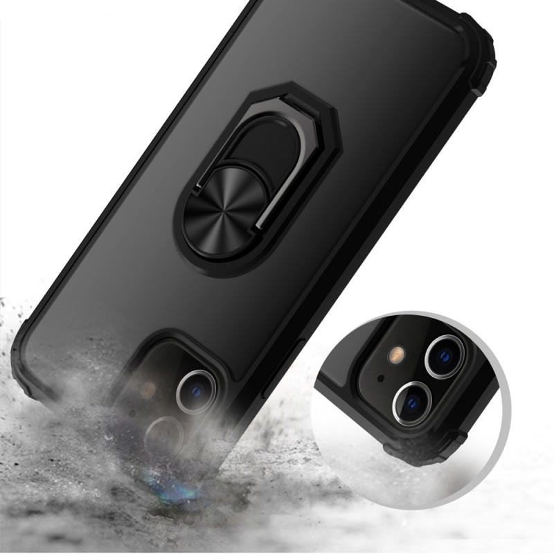 Mobiq Clear Hybrid Ring Case iPhone 13 Mini Zwart - 2